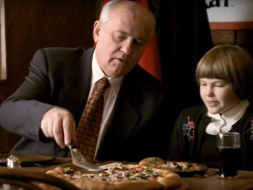 Yes, That Was Former Soviet Leader Mikhail Gorbachev Shilling for Pizza Hut in an Old Commercial