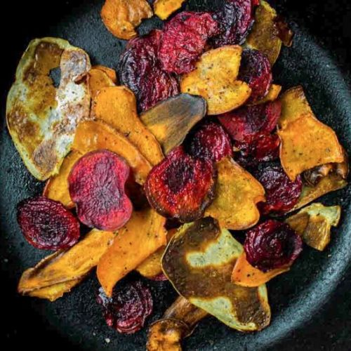 Hot & Colourful Root Veggie Chips