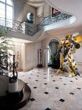 OK, So How Did Tyrese Gibson Get 2 Life-Size Transformers Through His Front Door?