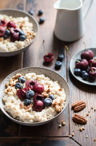 Brown Rice Breakfast Pudding {Gluten-free, Vegan & Naturally Sweetened}