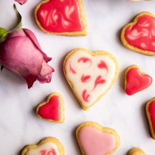 Valentine's Iced Heart Biscuits