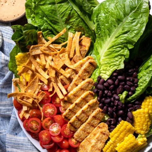 Santa Fe Salad with Grilled Tempeh