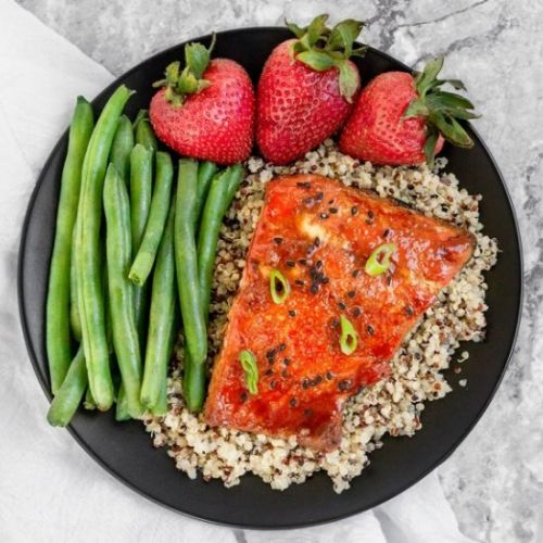 Sheet Pan Honey Sriracha Salmon