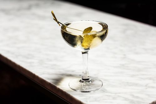 Dirty Martini Variation: The Congressman's Lunch