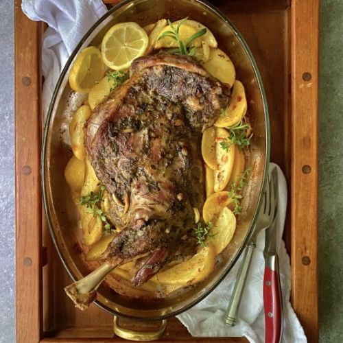 Traditional Greek Roasted Lamb
