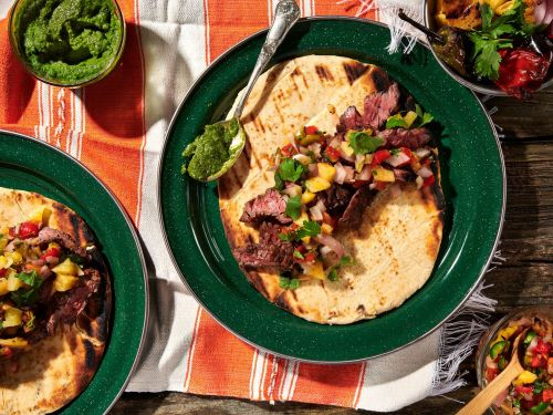 A Recipe for Showstopping Steak Tacos Nestled in Naan