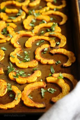 Roasted Delicata Squash with Turmeric - Food Drink Buzz