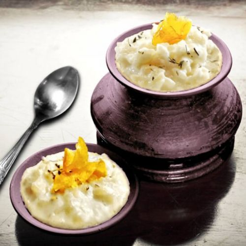 Lavender Lemon Rice Pudding