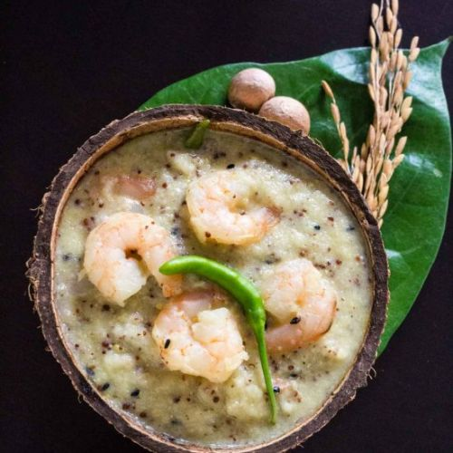 Prawns cooked in Tender Coconut