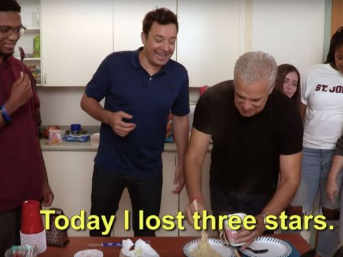 Watch Eric Ripert and Jimmy Fallon Cook a Three-Course College Dorm Feast