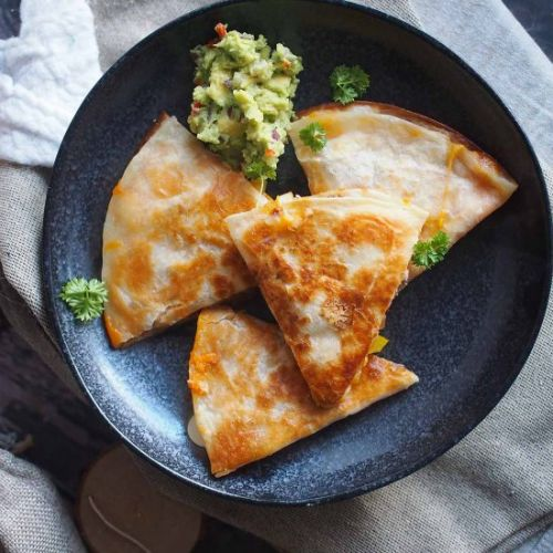Steak and bell pepper quesadillas