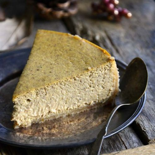 Low Carb Pumpkin Spice Cheesecake