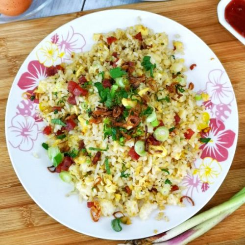 Chinese sausage fried rice 臘腸炒飯