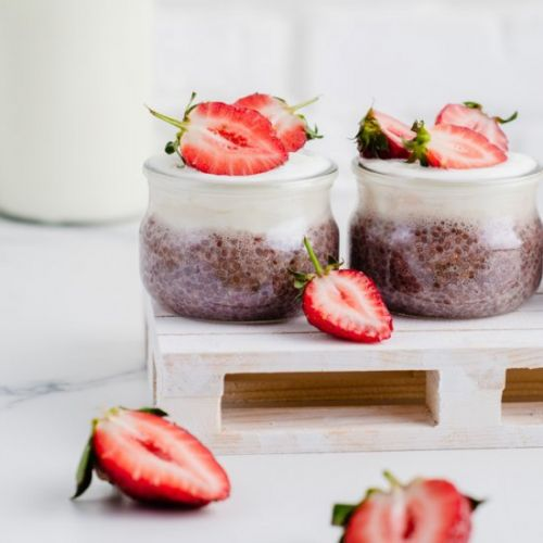 Strawberry Chia Coconut Pudding