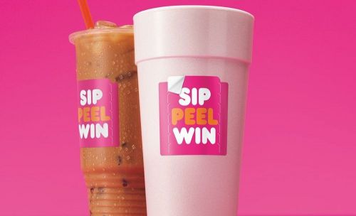 """Peeling Lucky? Dunkin's Nationwide """"Sip. Peel. Win."""" On-Cup """"Peel and Reveal"""" Promotion is Back with Millions of Prizes up for Grabs"""