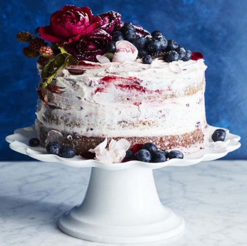 This Knock-Out Naked Cake Stars Berries at Their Peak