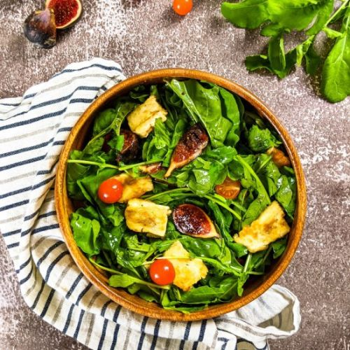 Fig and Grilled Halloumi Salad