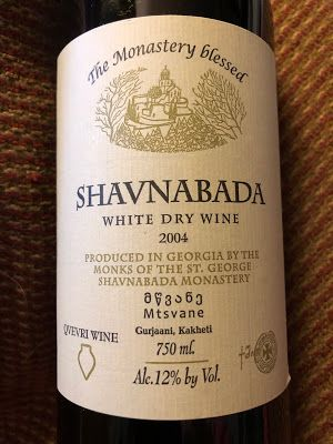 2004 Shavnabada Mtsvane: Black Cloak, Amber Wine & Savoriness