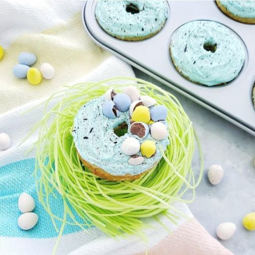 Whiskey Speckled Easter Donuts