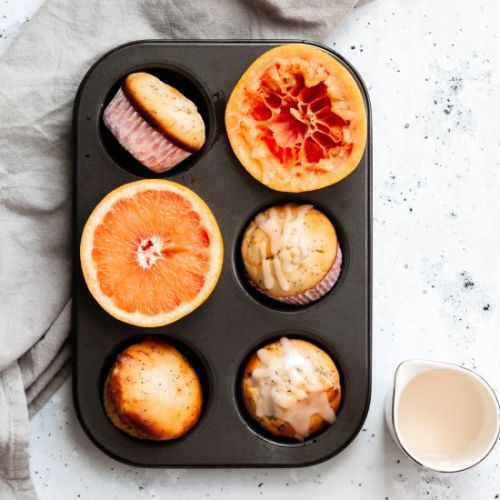 Grapefruit Yogurt Muffins