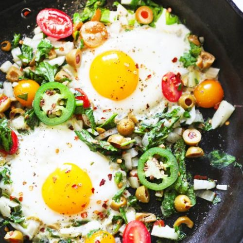 Eggs with Vegetables Recipe