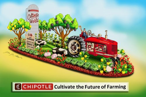 Chipotle Returns To Rose Parade With First-Ever Post-To-Donate Float Supporting Young Farmers