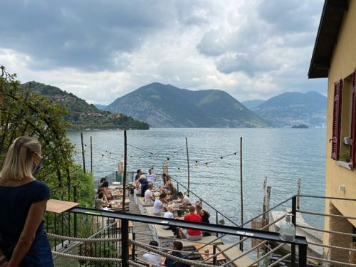We left our hearts on Lake Iseo. A new favorite restaurant. bromance