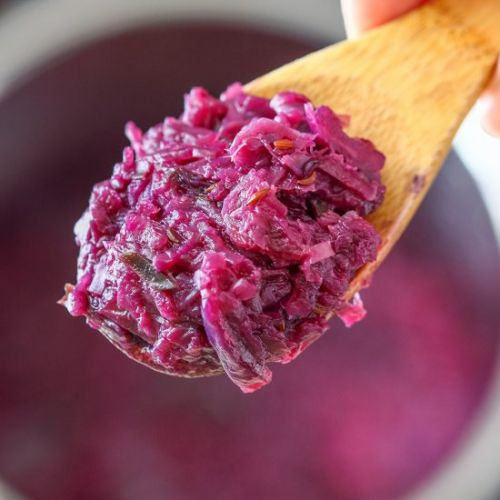 Instant pot braised red cabbage