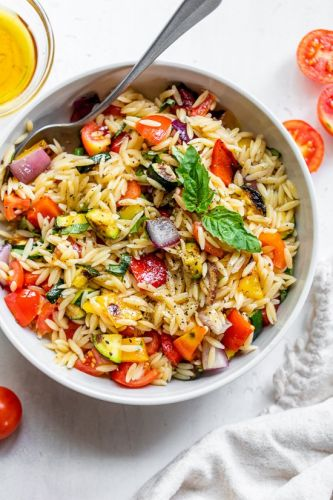 Grilled Vegetable Orzo Pasta Salad