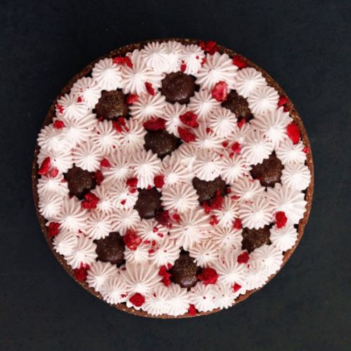 Chocolate and Raspberry Pie