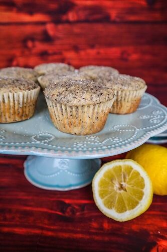 Vegan Lemon Poppy Seed Muffins