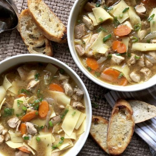 Quick & rich chicken soup