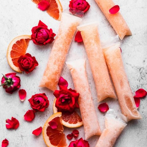 Prosecco Popsicles with Grapefruit