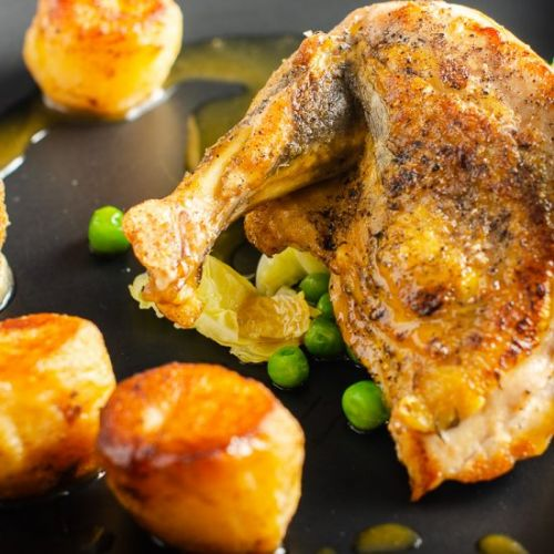 Guinea Fowl with a Rich Chicken Jus