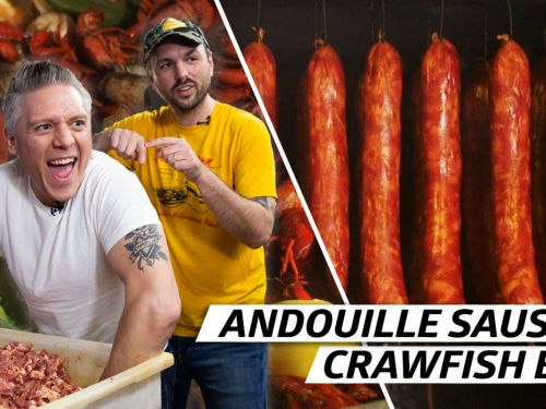 Making Smoky Andouille Sausage for a New Orleans Crawfish Boil