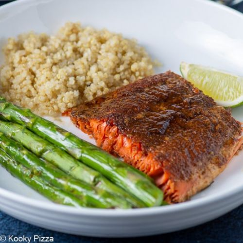 3 Ingredient Sweet and Spicy Salmon