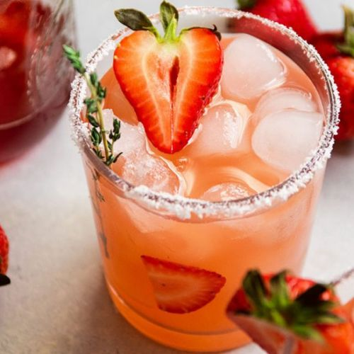 Strawberry Thyme Cocktails