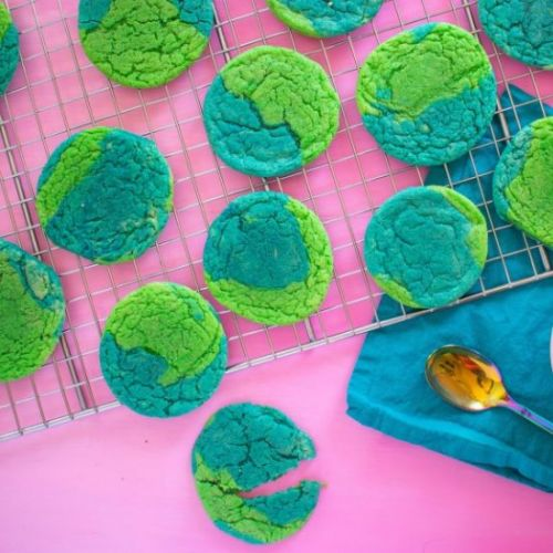 Earth Day Cake Mix Cookies