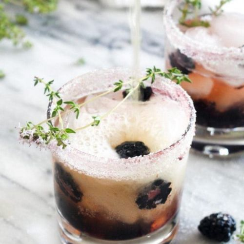 Blackberry Kombucha Vodka Smash