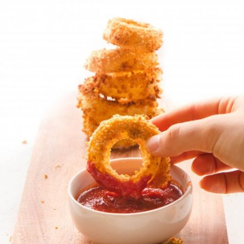 Healthy Vegan Onion Rings