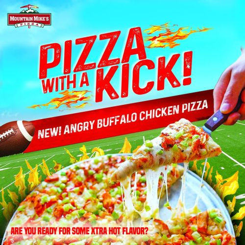 Mountain Mike's Pizza Has Gone Mad With the Launch of Its New Angry Buffalo Chicken Pizza