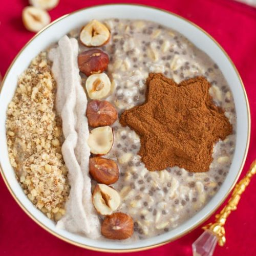 Hazelnut Cinnamon Overnight Oats