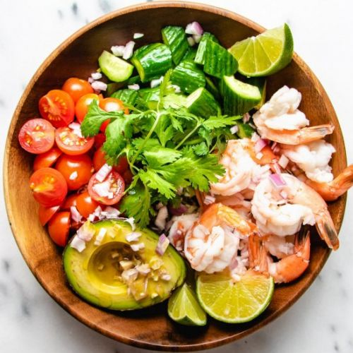 Keto Shrimp Avocado Salad