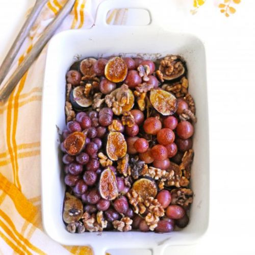 Roasted grapes and figs