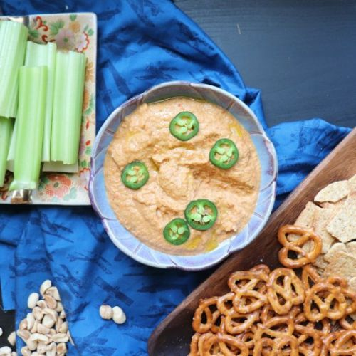 Vegan Dip with Roasted Red Peppers