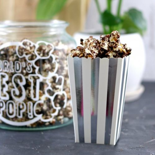 Homemade Chocolate Covered Popcorn