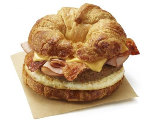 No Need to Choose Between Bacon, Ham or Sausage.Dunkin's New All You Can Meat Breakfast Sandwich Has Them All
