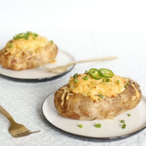 Green Chile Twice Baked Potatoes