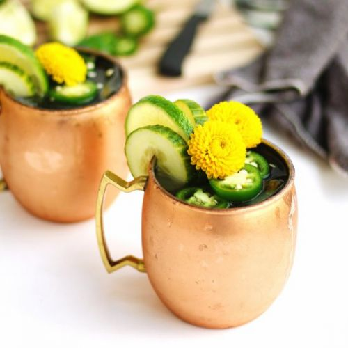 Jalapeno cucumber moscow mule