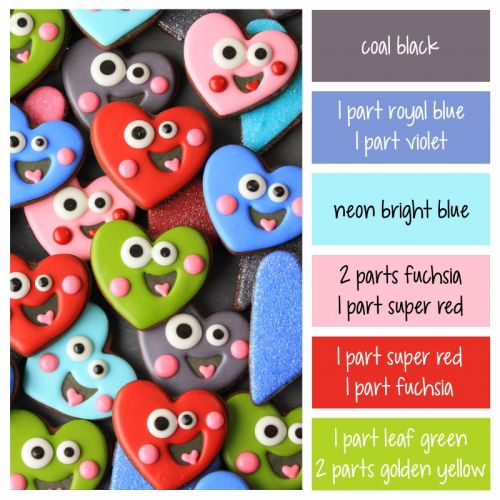 Happy Heart Color Palette and Icing Formulas